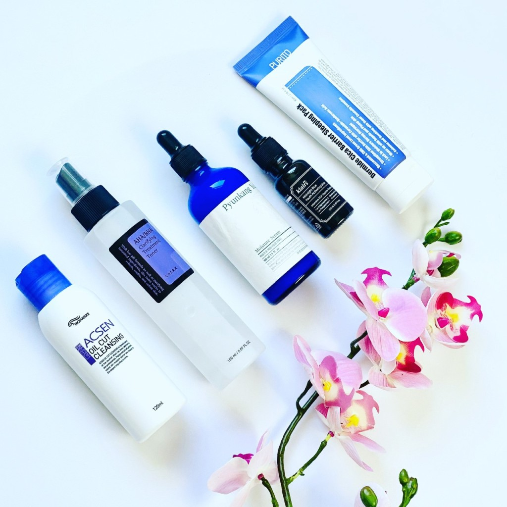 Evening skincare routine featuring K-Beauty cult classics